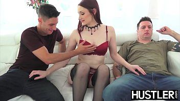 Appealing violet monroe destroyed with double penetration