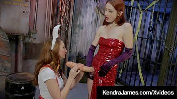 Cosplay kendra james receives biggest schlong blown by violet monroe